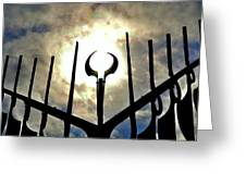 Sun In The Spirit Catcher Two  Greeting Card