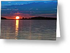 Sun Is Setting Over Port Hood Island Greeting Card