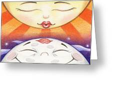 Sun Kissed Moon Greeting Card