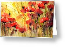 Sun Kissed Poppies Greeting Card