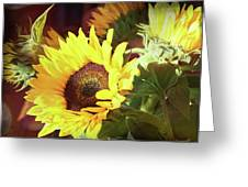 Sun Of The Flower Greeting Card by Michael Hope