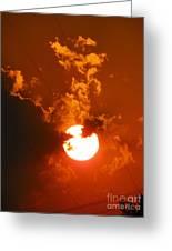 Sun On Fire Greeting Card