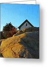 Sun On Granite Greeting Card