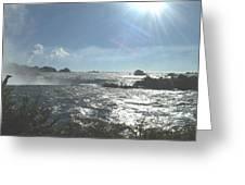 Sun On The Falls Greeting Card