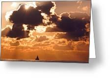 Sun Peek Sailboat Greeting Card
