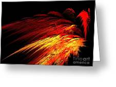 Sun Plumes Greeting Card