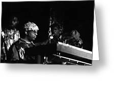 Sun Ra Arkestra At The Red Garter 1970 Nyc 23 Greeting Card