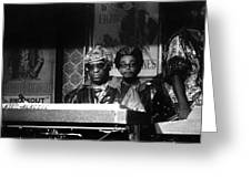 Sun Ra Arkestra At The Red Garter 1970 Nyc 8 Greeting Card