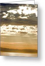 Sun Rays And Clouds Over Santa Cruz Greeting Card