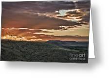 Sun Rays On Colorado Sage Greeting Card