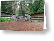 Sun Rays Over Fort Clatsop Greeting Card