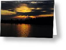 Sun Rays Over Solivita Greeting Card