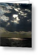 Sun Rays Pierce Through Clouds And Rest Greeting Card