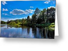Sun Reflecting On The Moose River Greeting Card