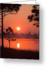 Sun Rise At Red Lake Grayton Beach State Park Florida Greeting Card
