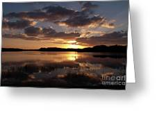 Sun Rise At West Lake In The Everglades Greeting Card