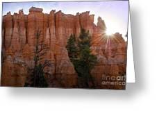 Sun Rising In Bryce Canyon Greeting Card