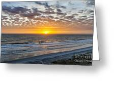 Sun Rising Over Atlantic Greeting Card