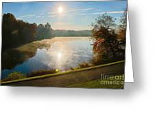 Sun Rising Over Lake Inspiration Greeting Card