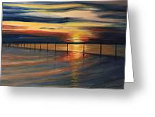 Sun Set At Seabridge Greeting Card