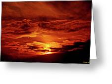 Sun Set II Greeting Card by Chaza Abou El Khair