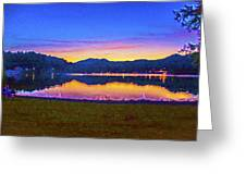 Sun Set On Lake Lure Greeting Card
