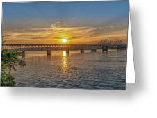 Sun Set Shoals Greeting Card