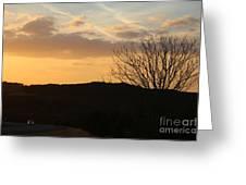 Sun Set Texas Greeting Card