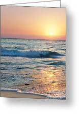 Sun Sets Over Seven Mile Beach Greeting Card