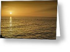 Sun Setting In Barbados Greeting Card