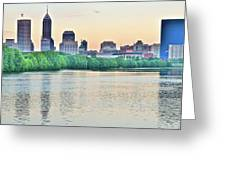 Sun Rise In Indianapolis Greeting Card