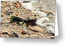 Sun Shades And Sea Shells Greeting Card