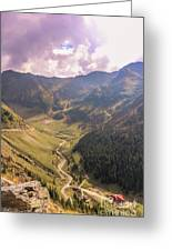 Sun Shining In The Valley Greeting Card
