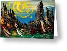 Sun Sin City Greeting Card