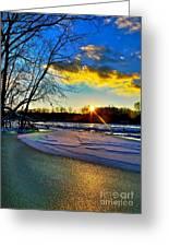 Sun Snow Ice Greeting Card
