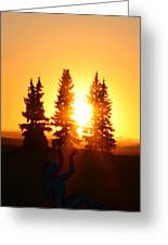 Sun Sorceress Greeting Card