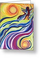 Sun Surfer Greeting Card