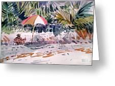 Sunbather Greeting Card