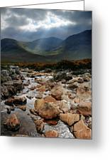 Sunbeams, Glencoe, Scotland Greeting Card