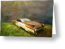 Sunbeams On A Classic Cadillac Greeting Card