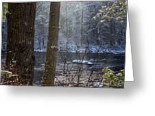 Sunbreak On A Snowy Day Greeting Card