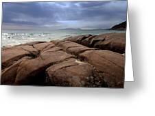 Sunbreak Over The Shoreline Greeting Card