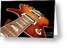 Sunburst Electric Guitar Greeting Card