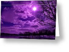Sunburst In Violet Greeting Card