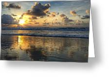 Sunburst Reflection Delray Beach Florids Greeting Card