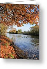 Sunbury On Thames Surrey Uk Greeting Card
