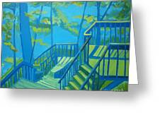 Suncook Stairwell Greeting Card by Debra Bretton Robinson