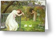 Sunday Afternoon - Ladies In A Garden Greeting Card