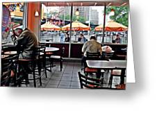 Sunday Afternoon At Dunkin Donuts Greeting Card