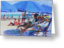 Sunday Beach Blues Greeting Card